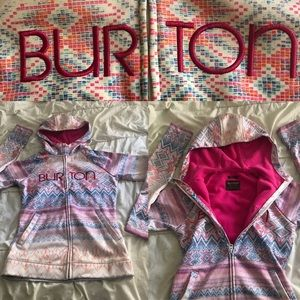 BURTON jacket hoodie zipper pockets ski snow small